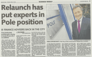 Leicester Mercury - Financial advisers back in city